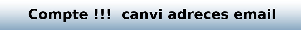 Canvi email